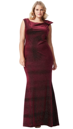 Sammet klänning med glitter